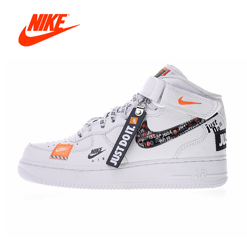 Original New Arrival Authentic Nike Air Force 1 Mid Women's Skateboarding Shoes Just do it Sneakers Good Quality BQ6474-100