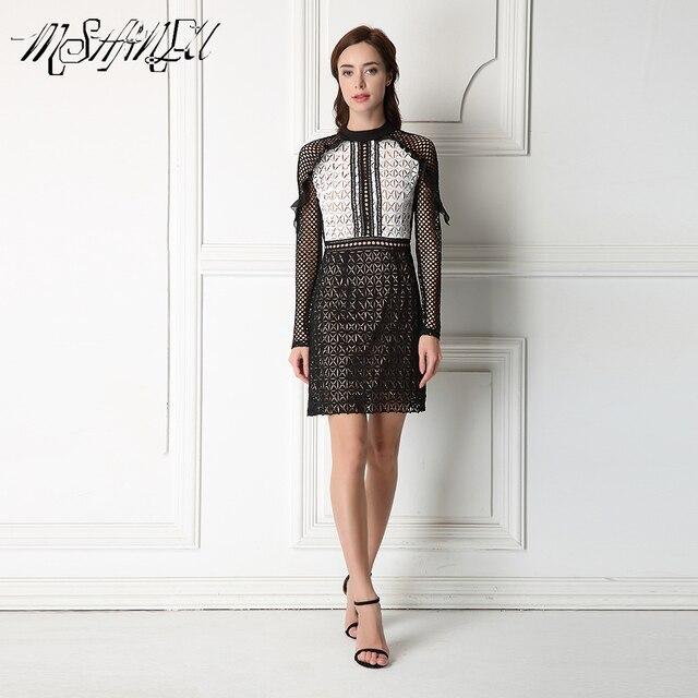 2017 новых прибыть весна черное кружево dress S/M/L/XL