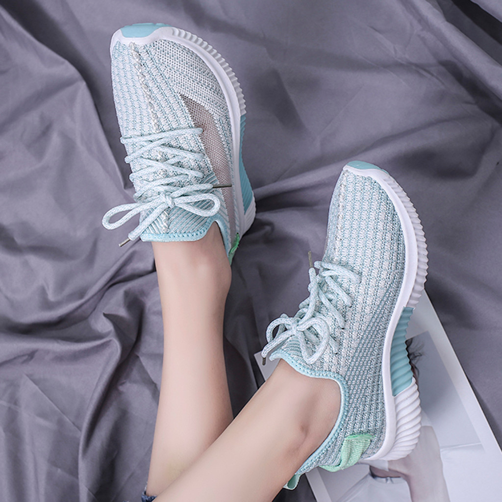 Fashion Fitness Sneakers Women Lace Up Casual Shoes Women Sneakers Breathable Trainers Women Sneakers 2019(China)