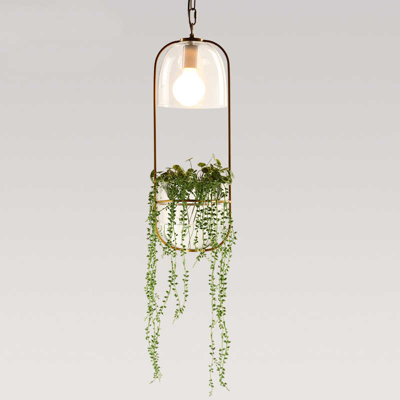 Kreative Pflanzen Anhanger Lichter Eisen Blumentopf Leuchte Glas Abdeckung Flur Kuche Balkon Loft Garten Hangen Leuchten Pendelleuchten Aliexpress
