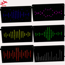 Zirrfa Diy Music Espectro Pantalla Grande Tamaño de Sonido de 256 Segmentos Led Espectro de la Música Electrónica Diy Kit de Flash Led 6 Colores