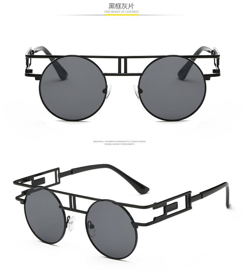 CandisGY mote metall ramme steampunk solbriller kvinner merkevare - Klær tilbehør - Bilde 5