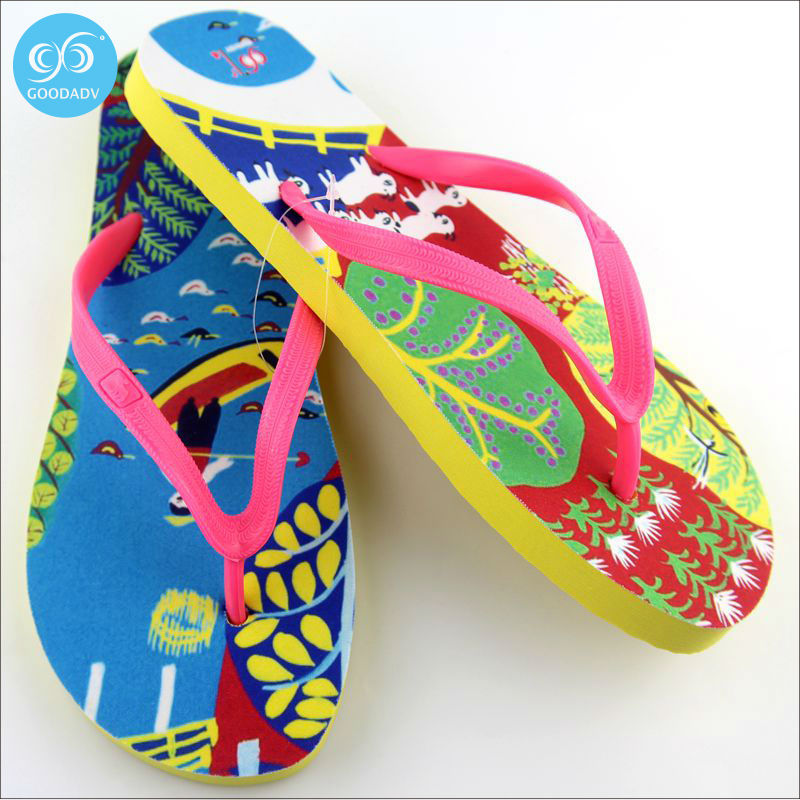 30c32a31d Attraction of custom printed Eva beach flip flops women s fashion trend look  comfortable Welcome to custom -in Slippers from Shoes on Aliexpress.com ...