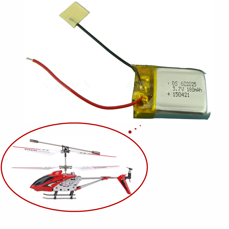 3.7V 180mAh Lipo Battery For Syma S107 S107G 1S 3.7V 180mAh Li-Po Battery 3.7 V 180 Mah Helicopter Part 1PCS