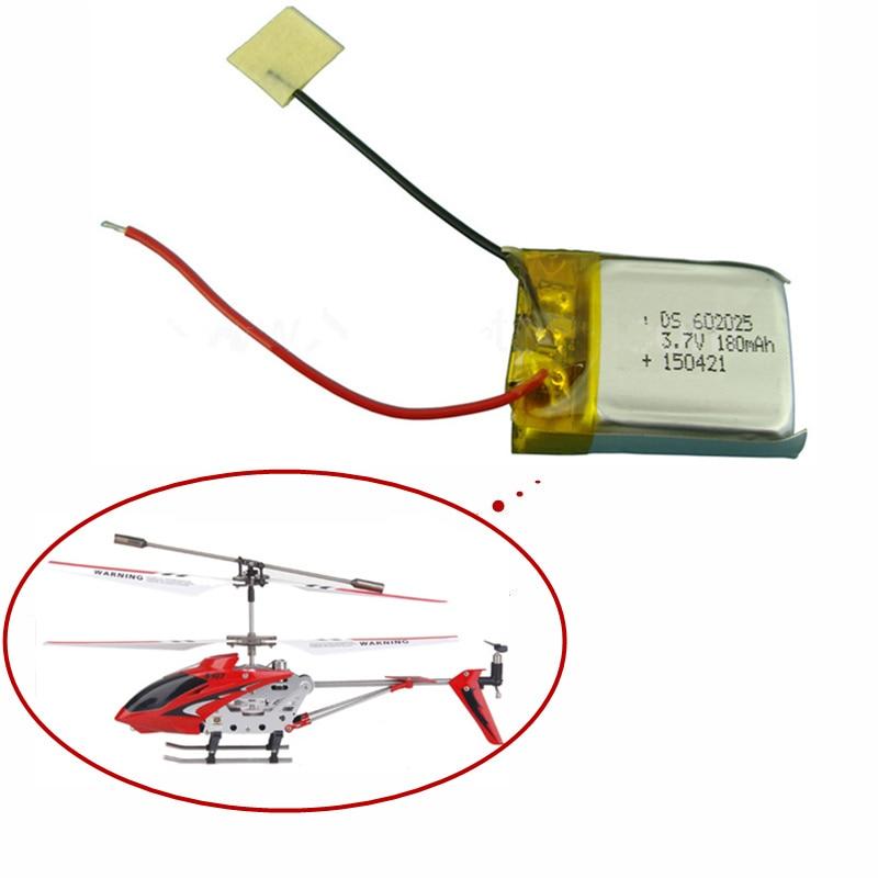 3.7V 180mAh Lipo battery For Syma S107 S107G 1S 3.7V 180mAh Li-Po Battery 3.7 V 180 mah Helicopter Part 1PCS3.7V 180mAh Lipo battery For Syma S107 S107G 1S 3.7V 180mAh Li-Po Battery 3.7 V 180 mah Helicopter Part 1PCS