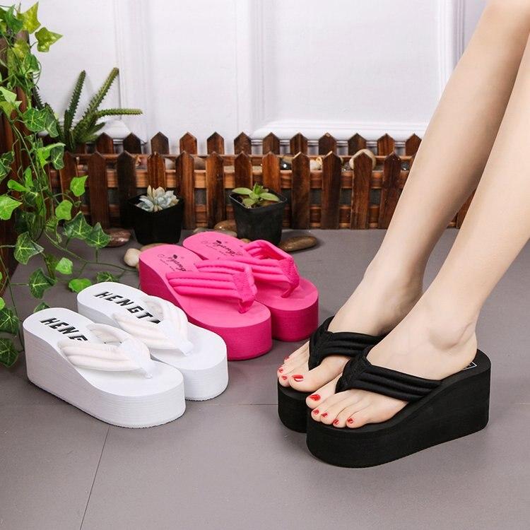 summer slides platform flip flops home slippers wedges pantoffels dames teenslippers women slipper shoes slides pantuflas mujer zapatillas de moda 2019 hombre