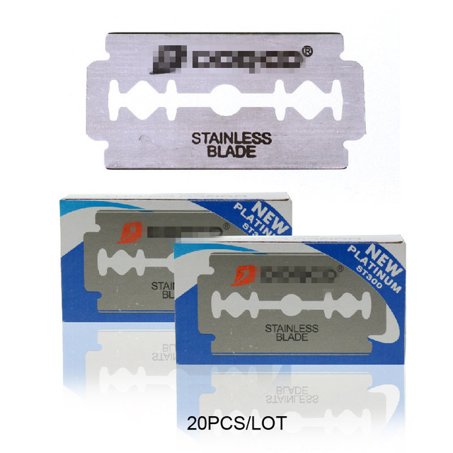 Dorco 20pcs Razor Blades Brand Stainless Steel Safety Razor Blades To Shave Blade To Razor For Men Lames De Rasoir Barber Blade Комедон