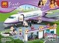 Nueva serie de Amigos el Aeropuerto de Heartlake modelo Building Block set Classic Compatible Con legoe chica juguetes Avión