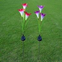 Outdoor-led-solarleuchten Simulation Blumen Garten Rasen Grüne Park Gürtel Hof Hochzeitsfeier Hintergrund Dekorative Lampe