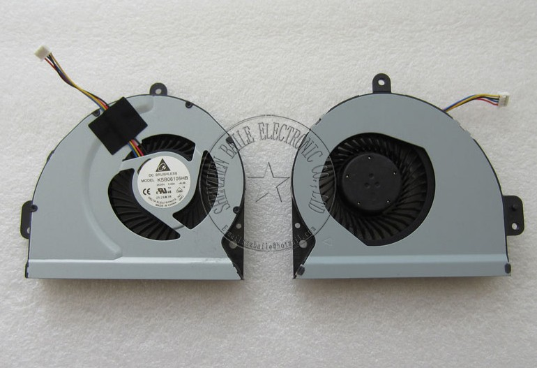 100% marque nouveau ventilateur de refroidissement pour asus x84 x84l a83sv x54h k53 k43 a43 a43s a53s k53s k53sj x84h x53s x43 x43s x43sc delta bfb0705ha