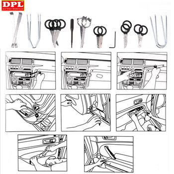 20 pcs Vehicle Radio Removal Tools Door Panel Removal Realese Stereo