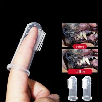 Супер мягкая надеваемая на палец зубная щетка для домашних животных, плюшевая собака, щетка для зубного камня, инструмент для чистки собак и кошек, товары для домашних животных