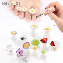 8Pcs/Set Toe Separators Silicone Foam Finger Foots Soft Spacers Daisy Flower Sunflower Of The Feet Care Tool