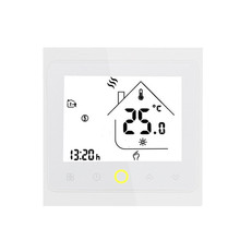 Wifi Thermostat for Boiler Heating Programmable LCD Display Smart WIFI Temperature Controller Works with Alexa for Voice Contro hy02b05 connect wifi enabled touchscreen programmable thermostat ac220v wifi temperature regulator for boilers