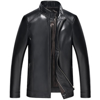Beverry Men's Genuine Leather 100% Sheepskin Guarantee Motorcycle Coat More Colors Jackets