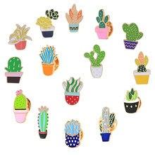 Popular Cartoon Fashion Cactus Pin Buy Cheap Cartoon Fashion