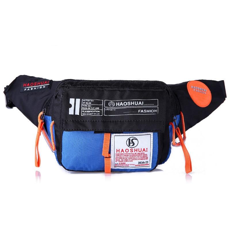 2019 Men Waterproof Nylon Fanny Pack Waist Bag Hip Bum Belt Messenger Shoulder Pouch Purse Sling Chest Bag