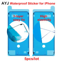 AYJ 5pcs 3-layer Waterproof Sticker for iPhone 7 8 Plus X XS Max XR LCD Frame 3M Double-sided Tape High Elasticity 6S 2-Layer(China)