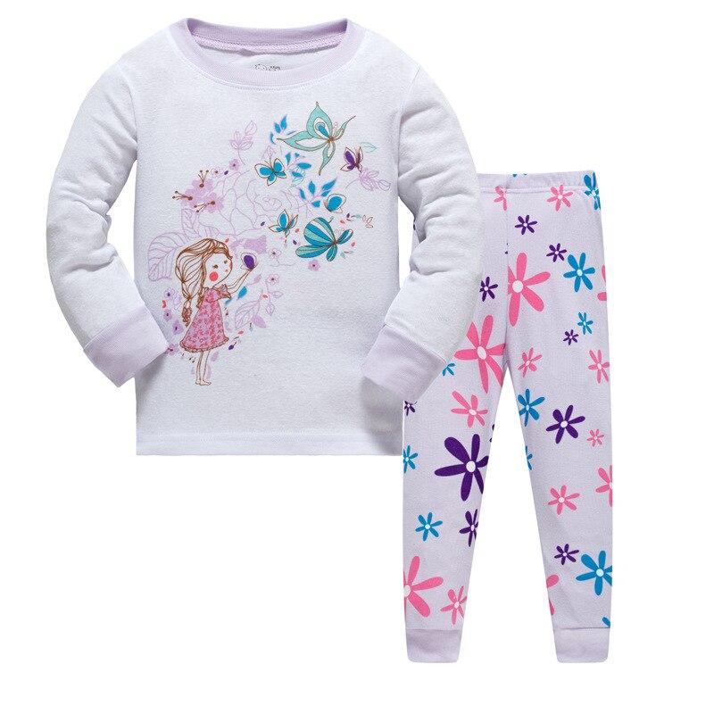 New kids Girls Autumn Pajamas Sets cartoon sleepwear character print Long Sleeve nightwear Sets children Pyjamas Christmas gift