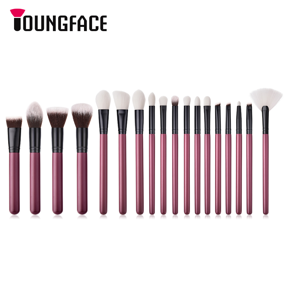 18Pcs Makeup Brushes Set Pro Powder Foundation Blush Eye Shadow Blend Cosmetic Beauty Make Up Brush Tool Kit Pincel Maquiagem 10 pcs makeup brush beauty cosmetic foundation blend tools cream puff makeup brush foundation brushes pincel maquiagem