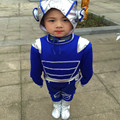 2017 Hot Sale style fly dance costumes kids sets blue robot space suit children's clothing dance performance 100-160cm