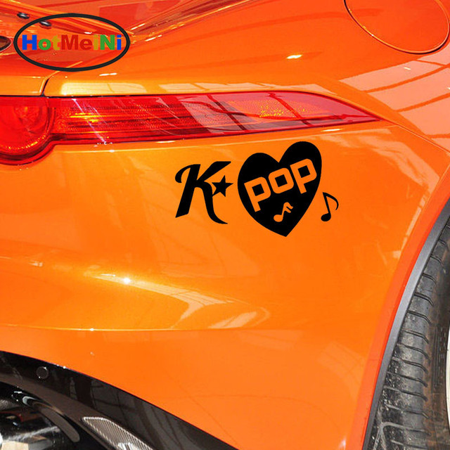 Hotmeini k pop kpop love korean seoul fashion beautiful car sticker window bumper laptop motorcycle