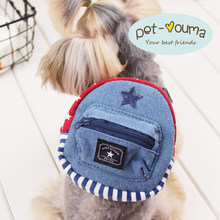 7c575f14047c Милые звезда собака рюкзак холст маленький щенок Животные ПЭТ сумки мешок  школы грудь Прогулки Ведущий набор
