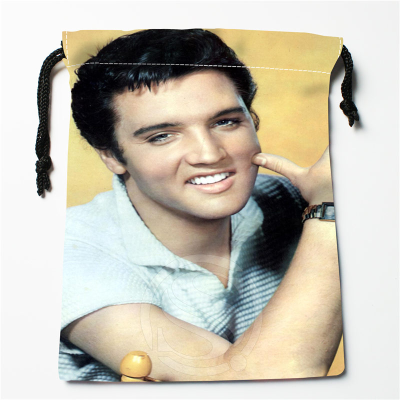 J&w3 New Elvis Presley  Custom Printed  Receive Bag Compression Type Drawstring Bags Size 18X22cm W725&JYe3
