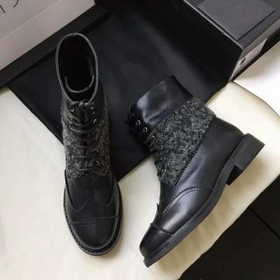 Automne Et Couture Sauvage Élégante Mode Bottes De Martin Femmes Nouvelles 1 Haut 2018 2 Chaussures Gamme D'hiver q1wEOH7