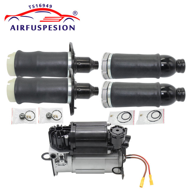 5PCS Air Suspension Spring Bag Air Compressor Pump for Audi A6 4B C5 Allroad 4Z7616052A 4Z7616051A 4Z7616051D 4Z7616007