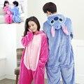 Mulheres Kigurumi Unicórnio kits kingurumi Pijama define Mulheres Pijama de Flanela Inverno Sleepwear noite-terno definir pijama Kigurumi