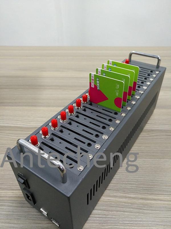 Nouveau petit modem LTE 4g de conception pour SMS en vrac, pool de modem SIM7600CE 4g 16 ports prenant en charge à la commande