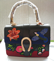 2017 new handbag bamboo bag retro thorn Embroidered Tote Bag messenger bag Satchel Bag tide vintage women' handbags