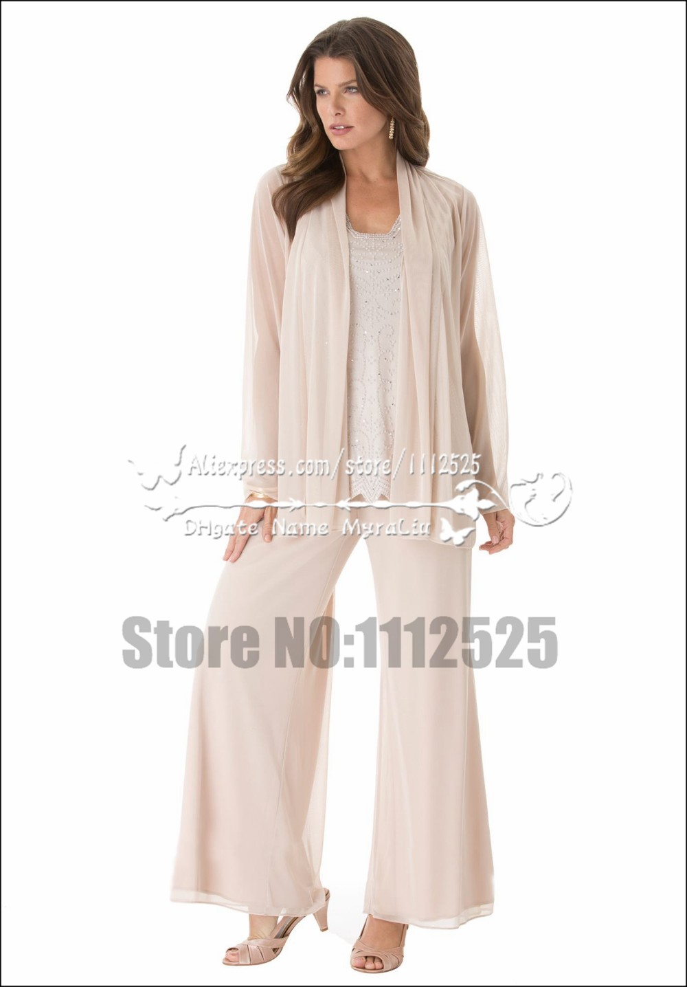 AMP 18 beautiful mother of the bride pant suits Plus size loose women's  outfit for for Special Occasion