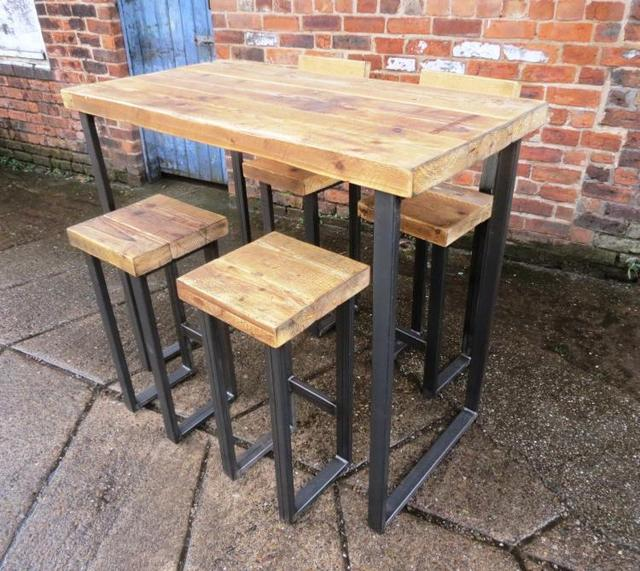 Delicieux LOFT Retro Do The Old Wrought Iron Wood Tables Long Table High Bar Tables  Starbucks Cafe