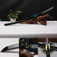 High Quality Full Handmade 1095 Carbon Steel Clay Tempered Green Samurai Sword Katana Sharp Edge
