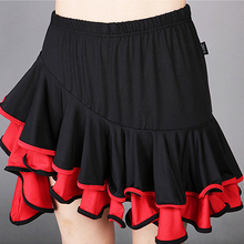 Ladies Latin Dance Skirt Girls Ballroom Salsa Samba Rumba Cha Cha Dancewear Skirt Competition Skirt 2 Colors #2476