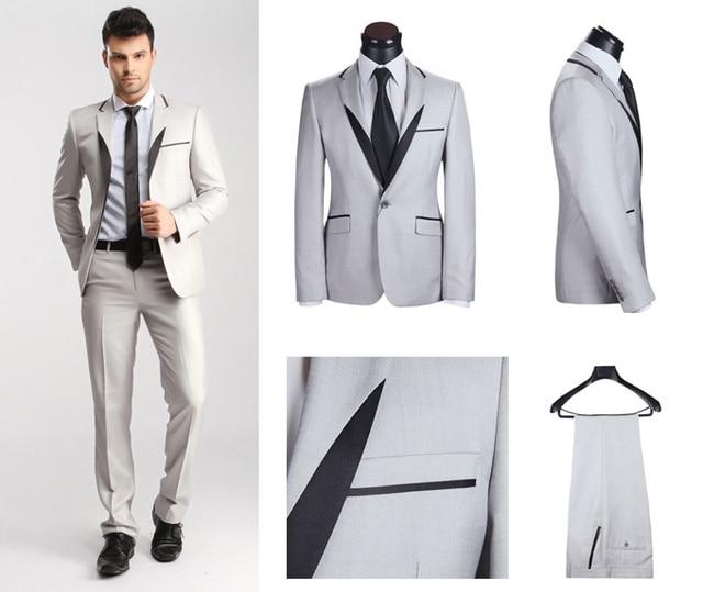 2014 Latest Design Fashion Wedding Suits for Men Slim Fit Business ...