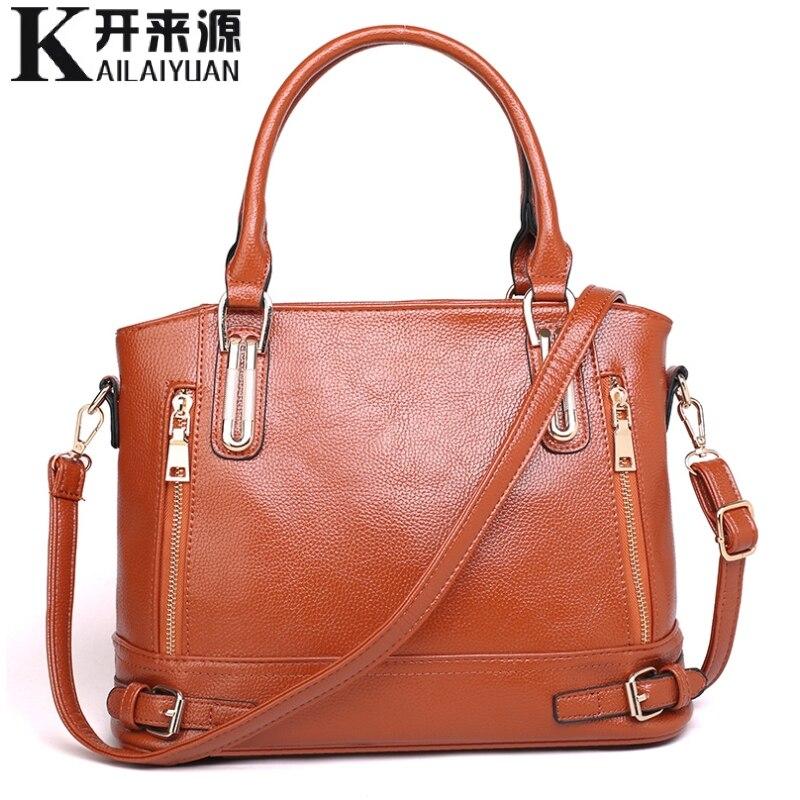 KLY 100% Delle Donne del cuoio Genuino borse 2019 delle Nuove donne borse cross-border borse di lavaggio sacchetto di spalla pacchetto diagonale