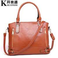 KLY 100% Genuine leather Women handbags 2019 New women's handbags cross-border handbags wash shoulder bag diagonal package