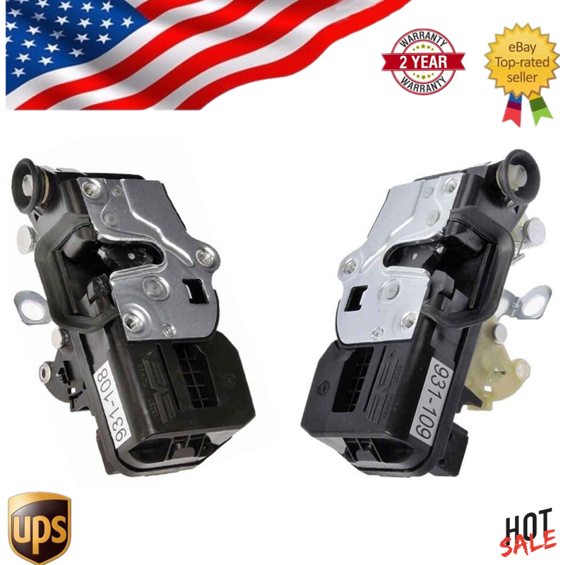 AP02 Pair Rear Door Lock Actuator For Cadillac Escalade Chevy Tahoe GMC Yukon Driver And Passenger Side