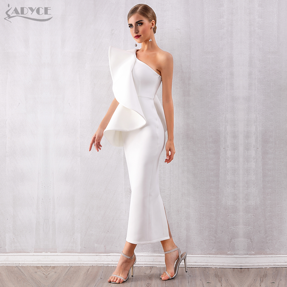 Image 2 - Adyce Summer Women White Celebrity Runway Party Dress Vestidos 
