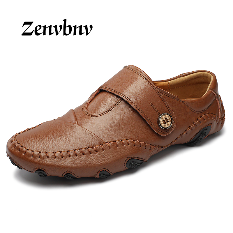ZENVBNV 2017 Fashion British Style Men Causal Shoes Genuine Leather Slip On Men Shoes High Quality Lazy Shoes Zapatos Hombre maden 2017 new fashion designer men leather casual shoes high quality zapatillas deportivas hombre british style summer shoes