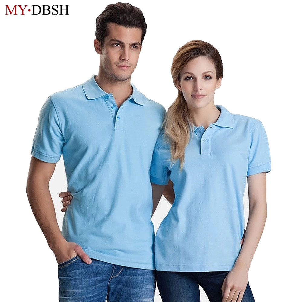 98473f5a46b High Quality Men s Short Sleeve Business Casual Polo shirt Lovers Summer  Fashion Pure Colour Cotton Polo shirts Free Shipping