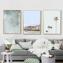 Architecture Poster Nordic Canvas Painting Landscape Tree Print Abstract Plant Wall Pictures For Living Room Unframed