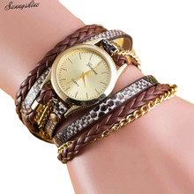 Style Girls Watches Cat Face Sample Leather-based Band Analog Quartz Vogue Wrist Watch wholesale v