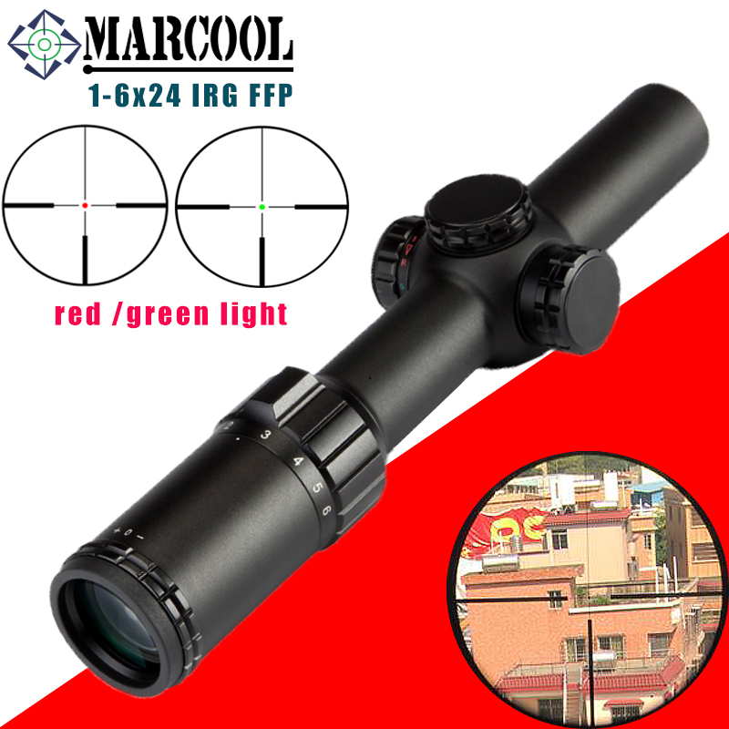 MARCOOL Optical Sight 1-6X24 IRG 1 CLICK 1/2 MOA Hunting Riflescope Tactical Optics Sight Rifle Scope Outdoors Military Quality