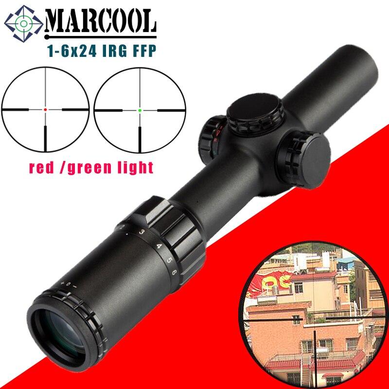 MARCOOL Optische Zicht 1-6X24 IRG 1 KLIK 1/2 MOA Jacht Riflescope Tactical Optics Sight Rifle Scope buiten militaire kwaliteit