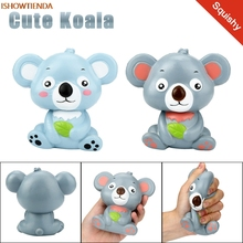 Új, 12 cm-es aranyos Koala krém illatos Squishy Toy Lassú Rising Squeeze Strap Kid Játék Ajándékok Stressz Relief Reliever Squishy Toy Hot