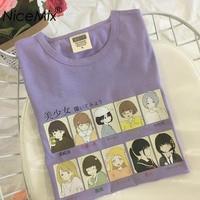 NiceMix 2019 Summer Harajuku T Shirt Women Cotton Tops Print Cartoon Girl Kawaii Short Sleeve Loose Tee Shirt Femme